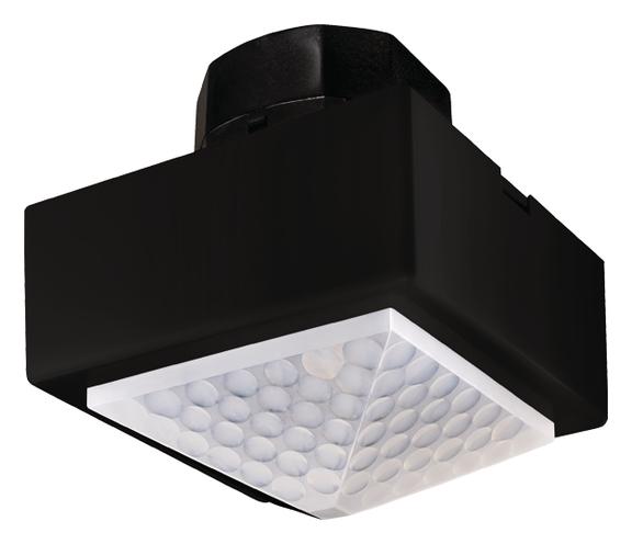 1 Stk Präsenzmelder, Deckenmontage, 360°/81m²/IP40/2xLicht,schwarz EST2020815