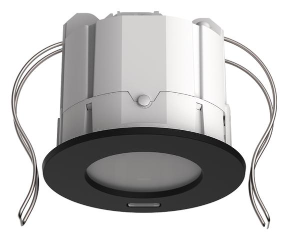 1 Stk KNX-Präsenzmelder für Deckeneinbau, 360°/49m²/IP20, schwarz EST2039101