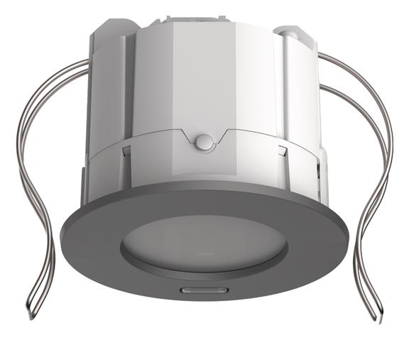 1 Stk KNX-Präsenzmelder für Deckeneinbau, 360°/49m²/IP20, silber EST2039102