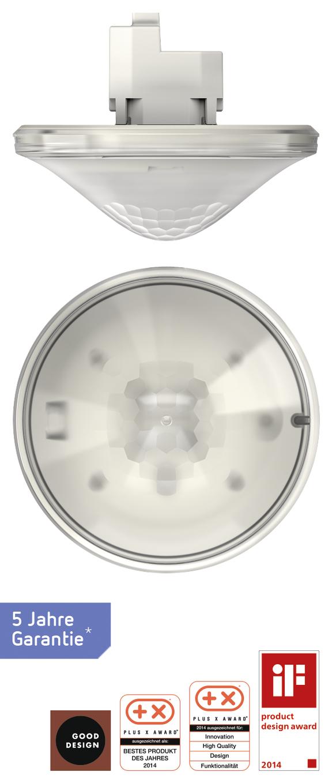 1 Stk Präsenzmelder für Deckenmontage, 360°/81m²/IP40, weiß EST2070105