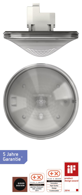 1 Stk Präsenzmelder, Deckenmontage, 360°/49m²/IP40, 1 Kanal, grau EST2070601