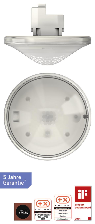 1 Stk Präsenzmelder, Deckenmontage, 360°/49m²/IP40, 2 Kanäle, weiß EST2070605