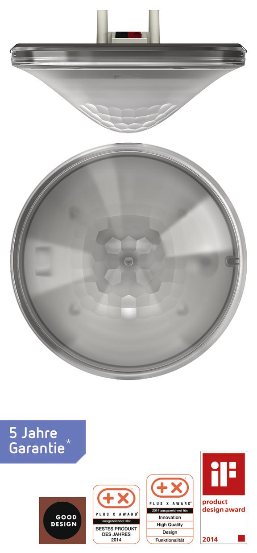 1 Stk KNX-Präsenzmelder für Deckenmontage, 360°/81m²/IP40, grau EST2079001