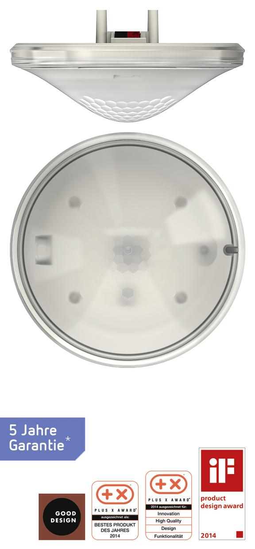 1 Stk KNX-Präsenzmelder für Deckenmontage, 360°/49m²/IP40, weiß EST2079500