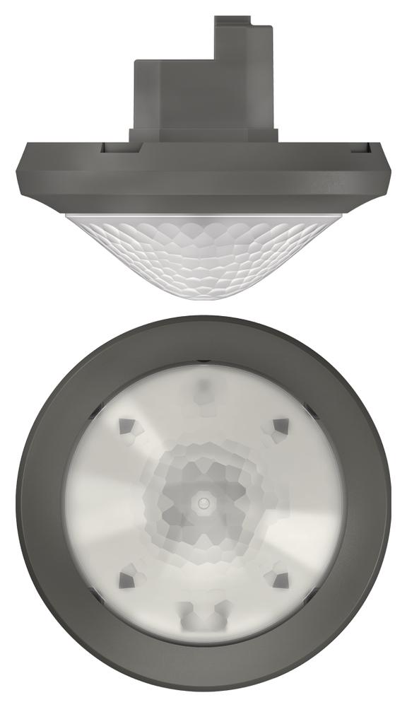1 Stk Präsenzmelder für Deckenmontage, 360°/Ø24m/IP54, Slave, grau EST2080031