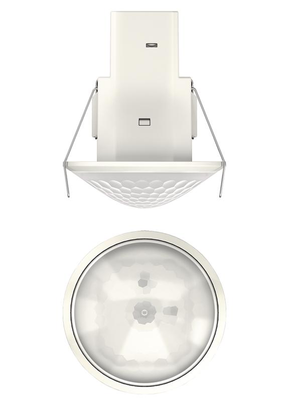 1 Stk Präsenzmelder für Deckeneinbau, 360°/Ø8m/IP54, weiß EST2080565