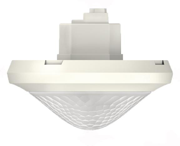 1 Stk KNX-Präsenzmelder für Deckenmontage, 360°/42m²/IP54, weiß EST2089000