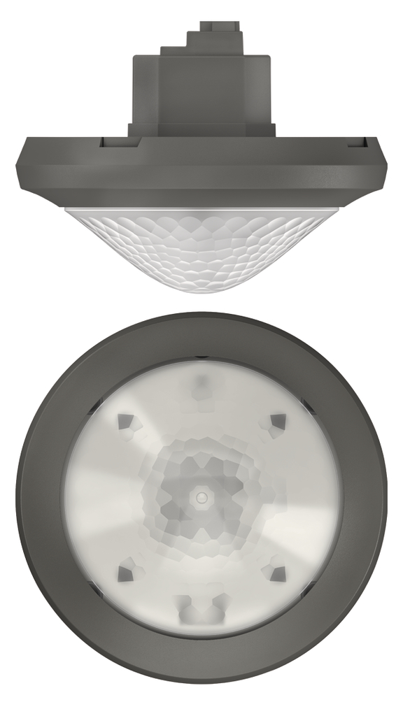 1 Stk KNX-Präsenzmelder für Deckenmontage, 360°/42m²/IP54, grau EST2089001