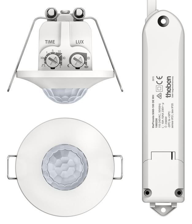 1 Stk Präsenzmelder für Deckenmontage, 360°/Ø8m/IP21/IP20, weiß EST2090200