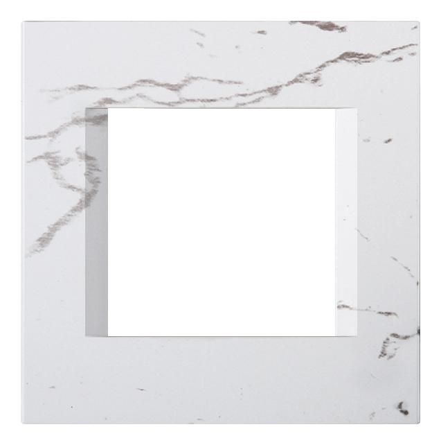 1 Stk Rahmen 2M, steinweiß ET145014SW