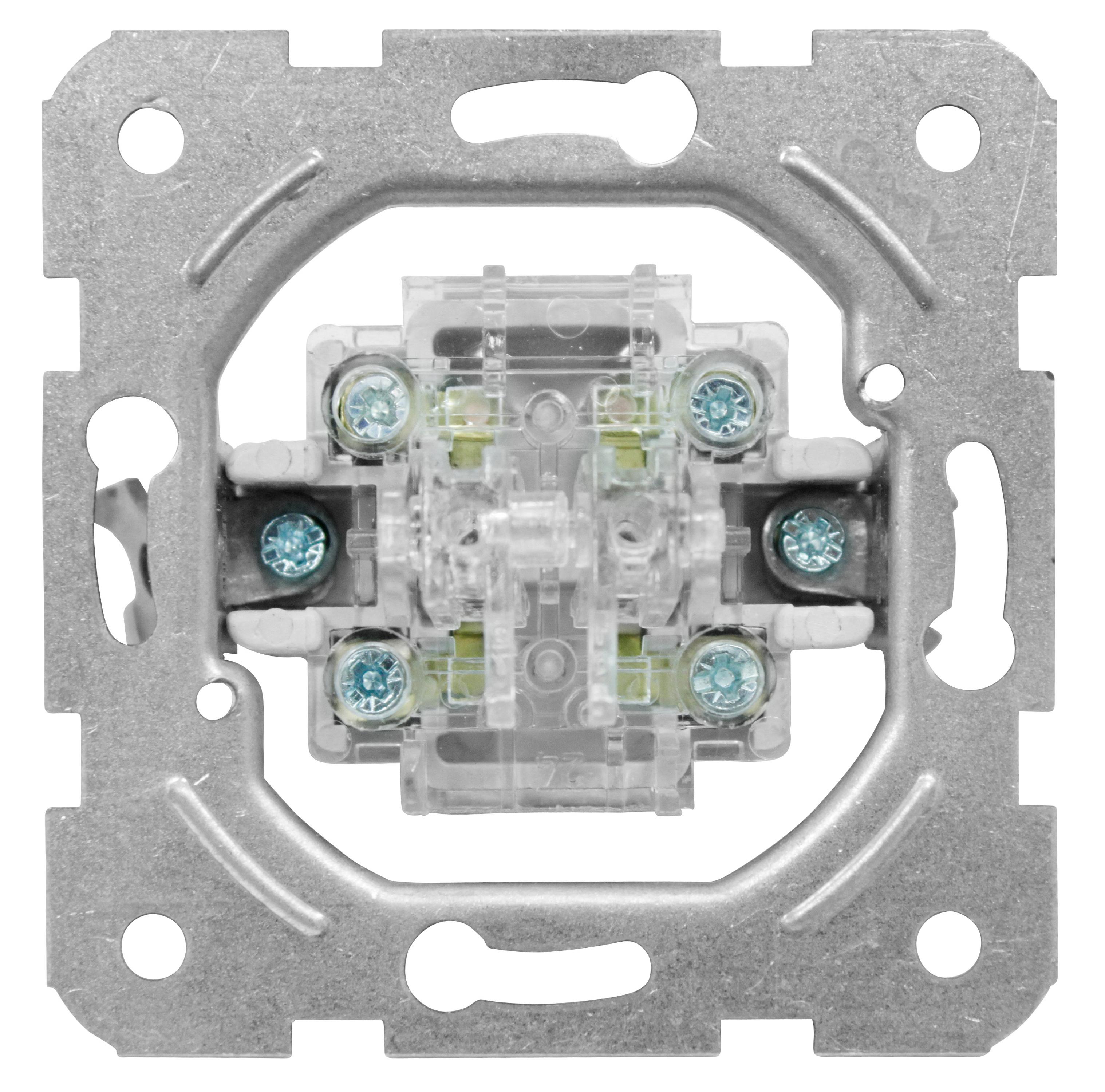 1 Stk Doppelwechselschalter-Einsatz, Schraubklemmen EV100014--