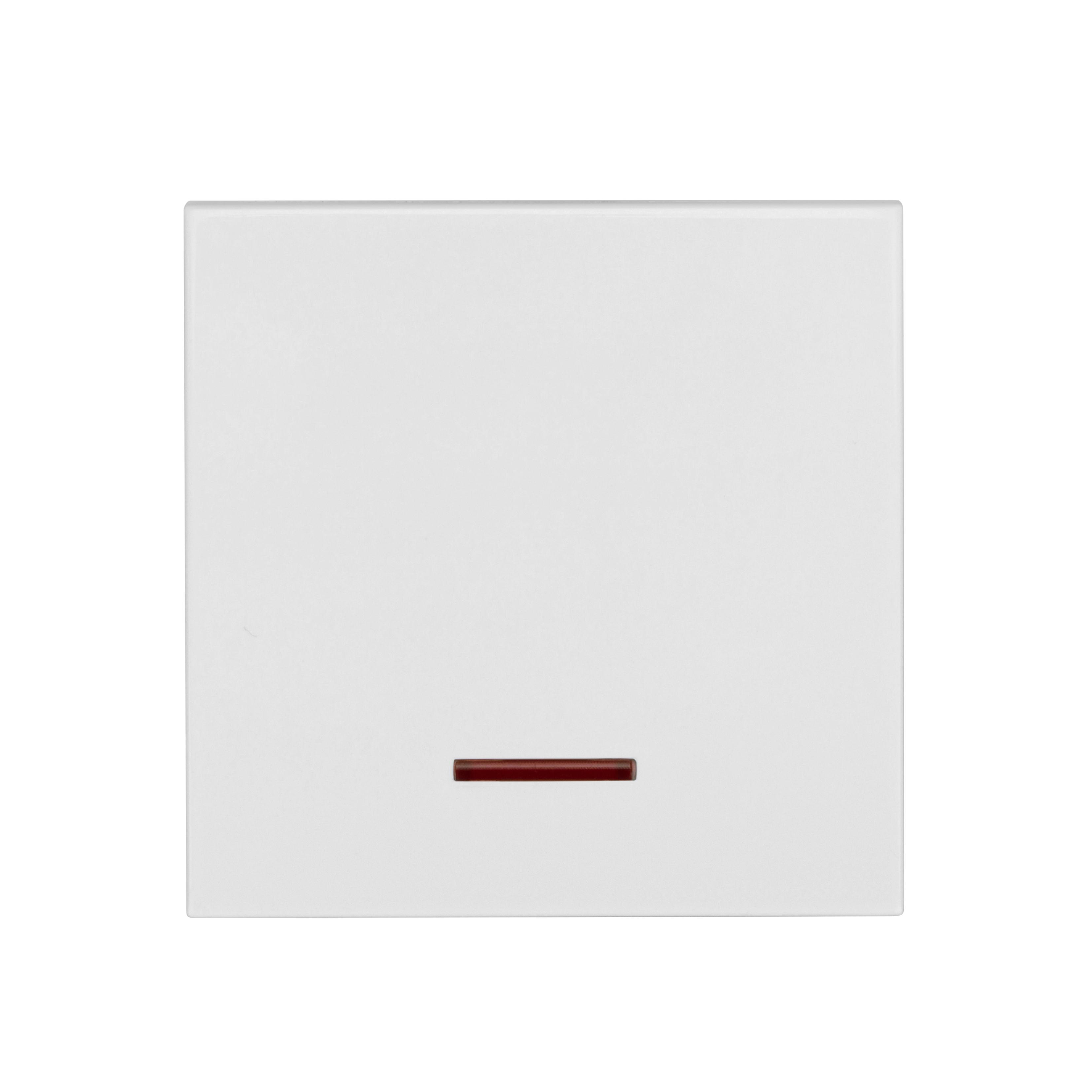 1 Stk Wippe mit roter Linse, weiß EV102008--