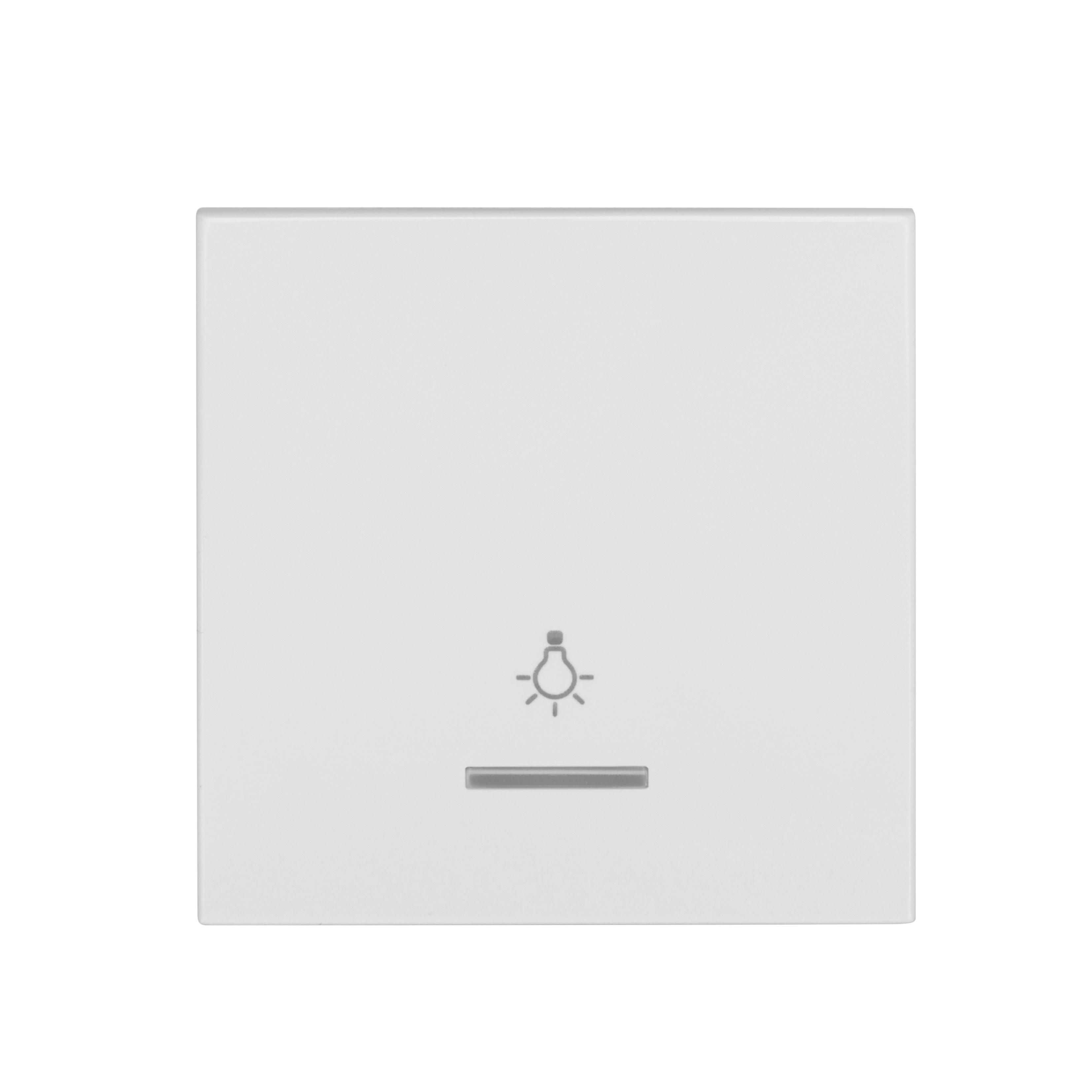1 Stk Wippe mit transparenter Linse, Symbol Licht, weiß EV102009--