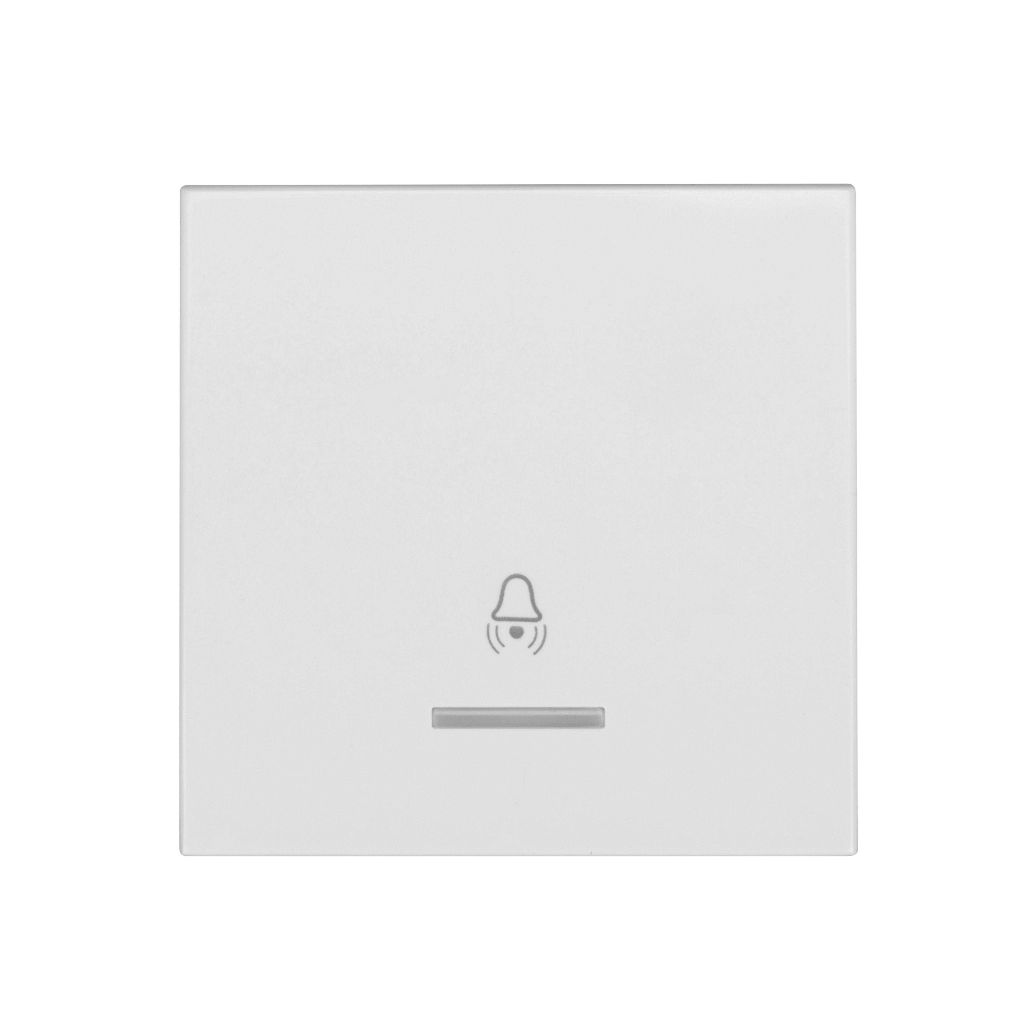 1 Stk Wippe mit transparenter Linse, Symbol Glocke, weiß EV102010--