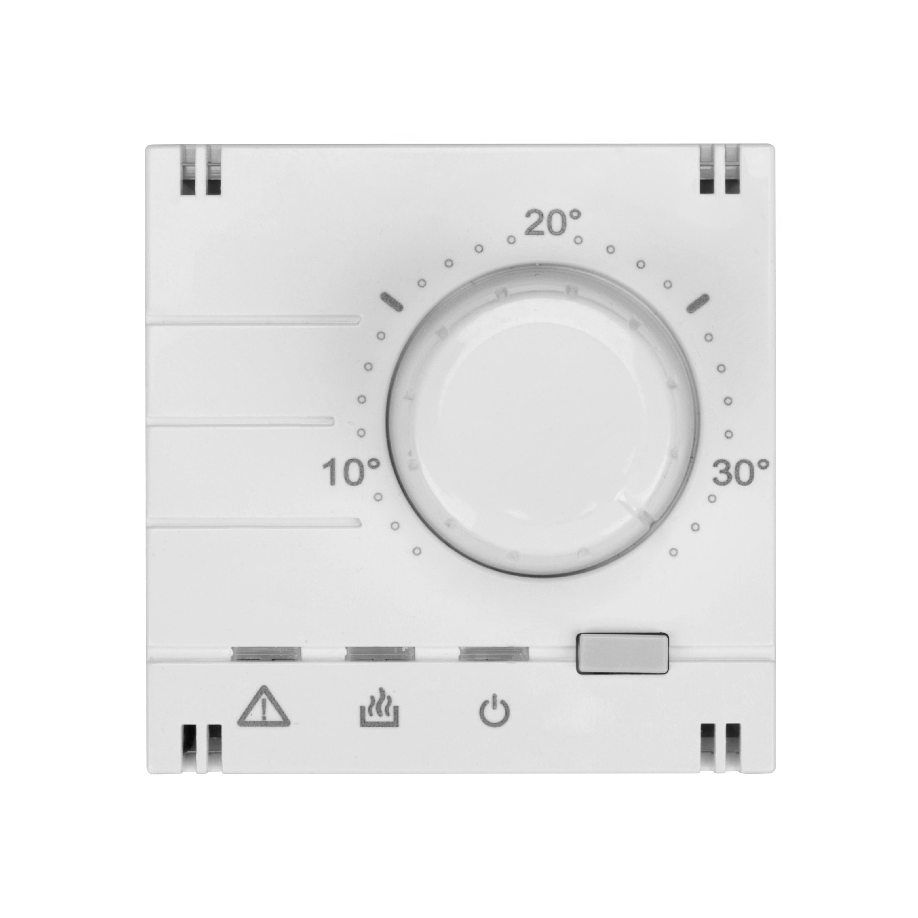 1 Stk analoger Raumthermostat-Aufsatz, weiß EV103011--