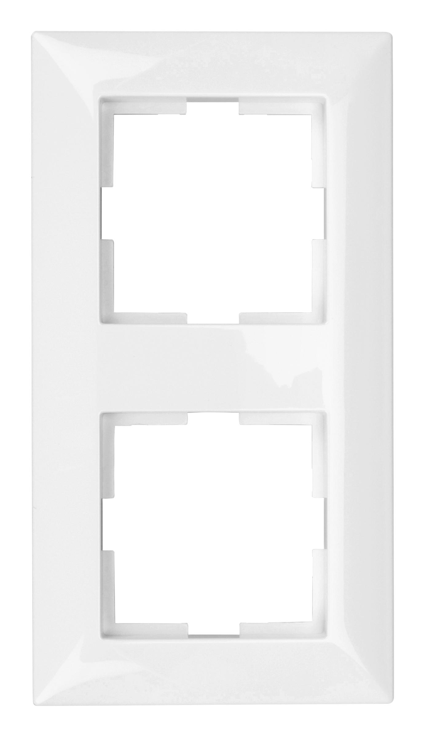 1 Stk Rahmen 2-fach, weiss EV105002--