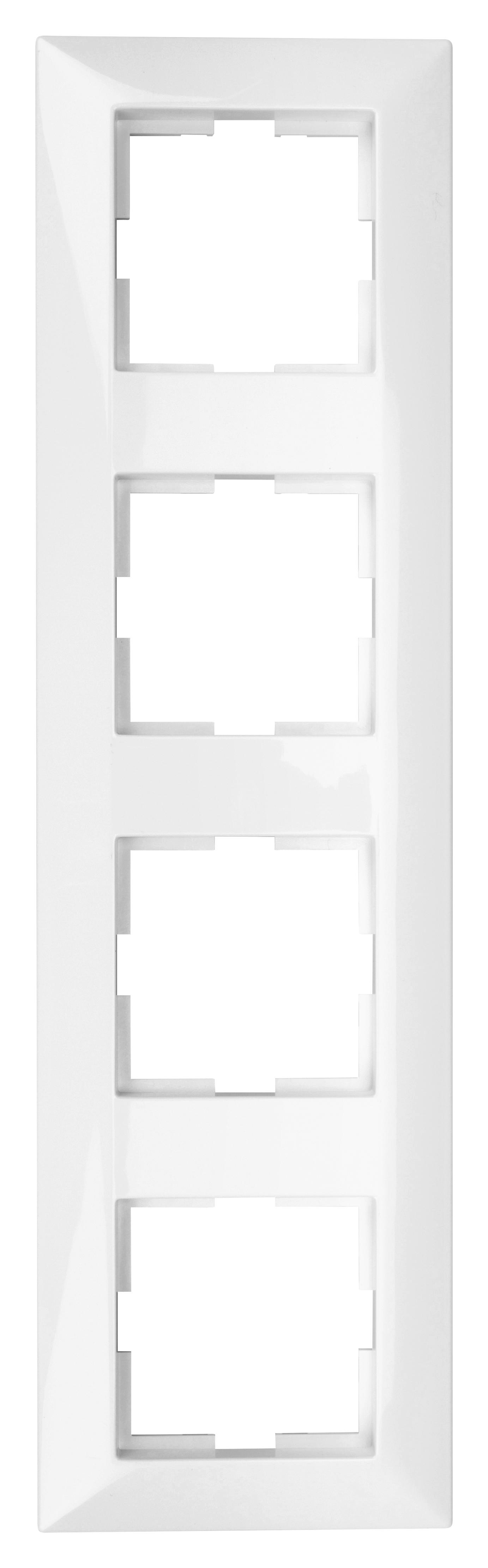 1 Stk Rahmen 4-fach, weiss EV105004--