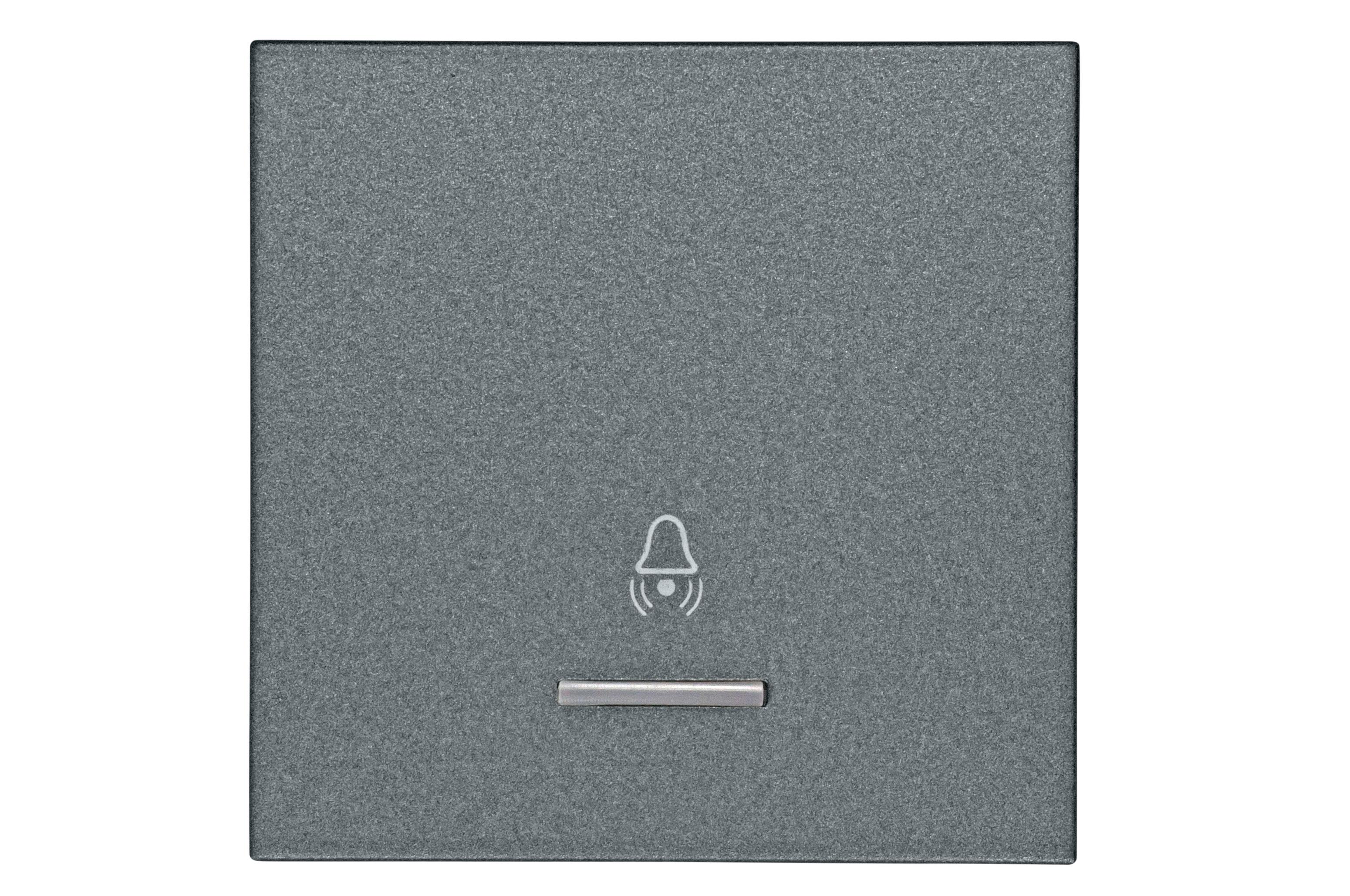 1 Stk Wippe mit transparenter Linse, Symbol Glocke, anthrazit EV112010--
