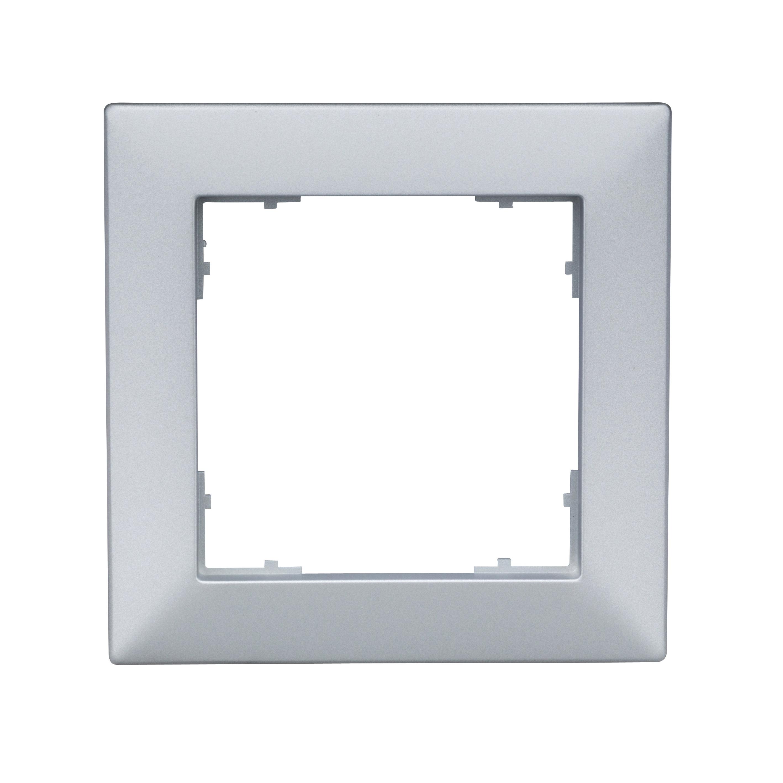 1 Stk Rahmen 55x55mm, 1-fach, Silber EV125021--