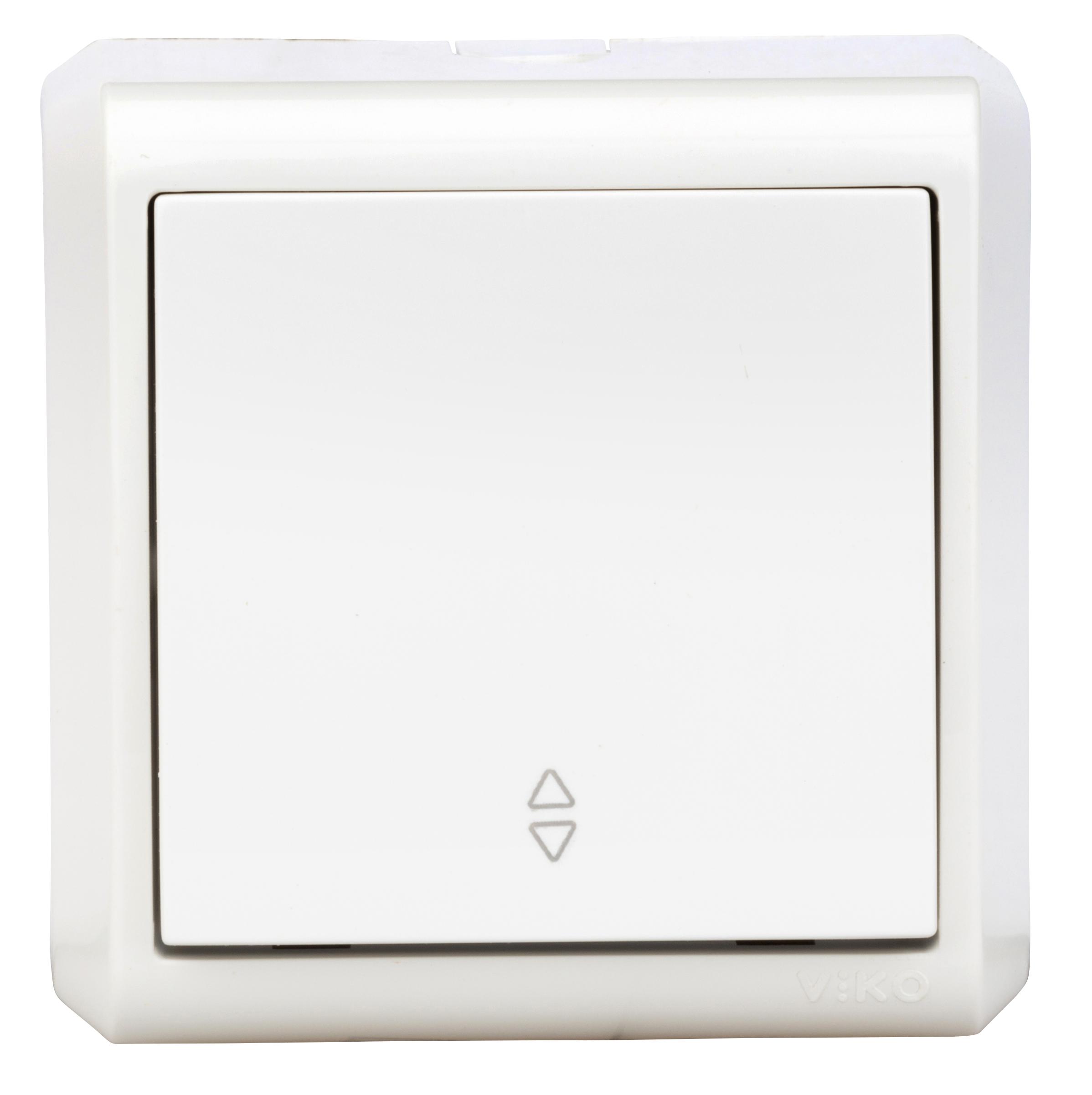 1 Stk AP-Wechselschalter, Schraubklemme, IP20, weiß EV310004--