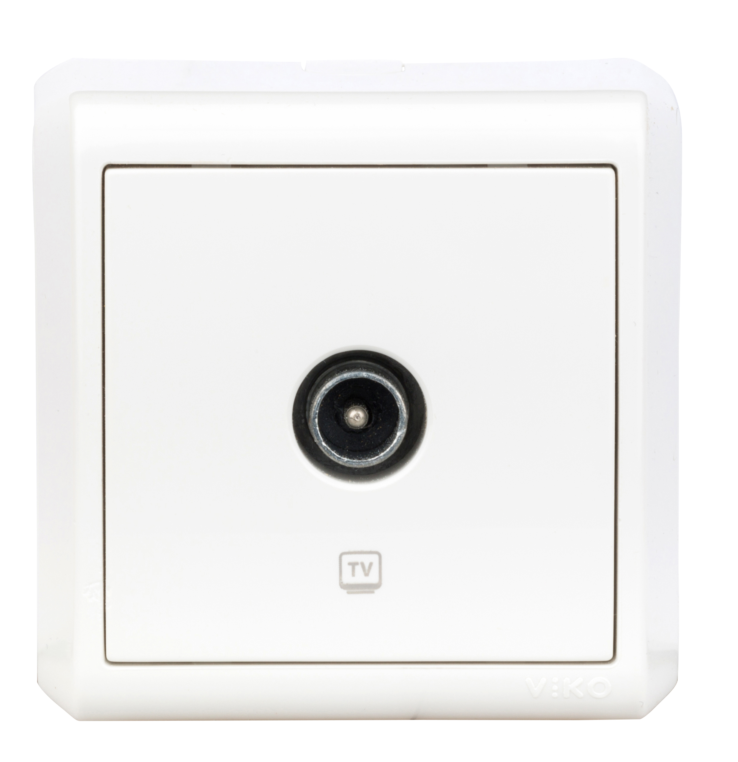 1 Stk AP-TV-Durchgangsdose 8db, Schraubklemme, IP20, weiß EV314005--