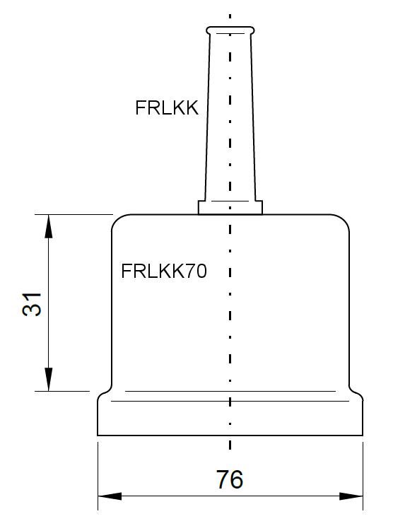 1 Stk Gummitülle für Iso-Kappe für LKT Ø 60 und 70mm (lose) FRLKK-----