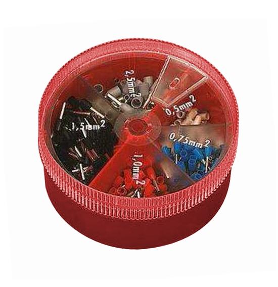 1 Stk Adernendhülsen Box DIN46228 400teilig, 0,5-2,5mm²-isoliert GI55730006