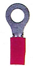 100 Stk Ringzunge isoliert, rot, 0,5-1,5mm², M4 GI5587502-