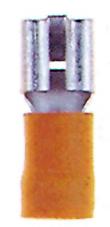 100 Stk Flachsteckhülse 6,3 isoliert, gelb, 4-6mm² GI5587514-