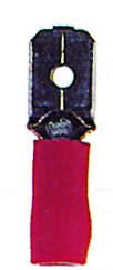 100 Stk Flachsteckzunge 6,3 isoliert, rot, 0,25-1mm² GI5587555-