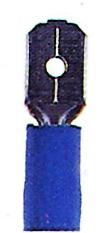 100 Stk Flachsteckzunge 6,3 isoliert, blau, 1,5-2,5mm² GI5587556-