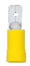 100 Stk Flachsteckzunge 6,3 isoliert, gelb, 4-6mm² GI5589454-
