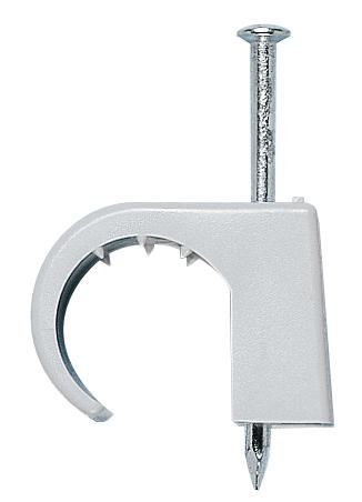 100 Stk Nagelschelle grau mit Stahlnagel 4-7mm/2,0x25mm GI593757--