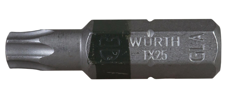 1 Stk Bit 1/4 Torx TX25 schwarz Länge:26mm GI6143125-