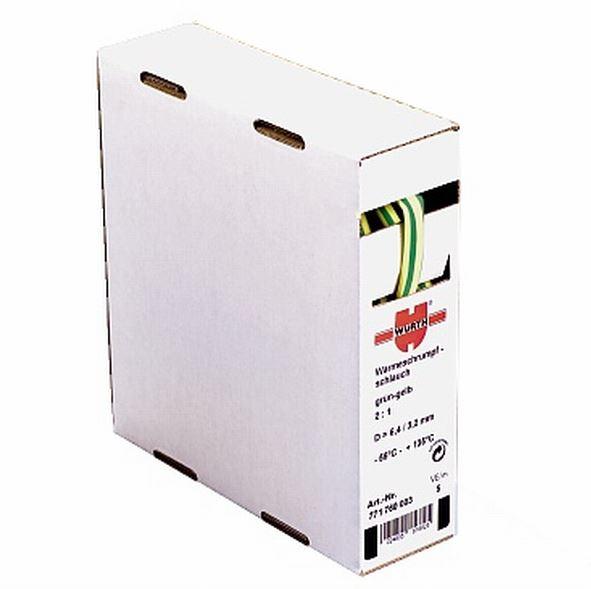 1 m Schrumpfschlauch Box 12,7/6,4mm, 1Box=5m, gelb/grün GI77176050