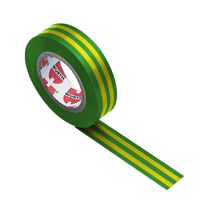 1 Stk Isolierband gelb/grün 15mm x 10m-Coroplast GI98521090