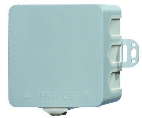 100 Stk AP-Abzweigdose 85x85xt40mm, Durchstossmembrane-IP54 grau GTDA1100--