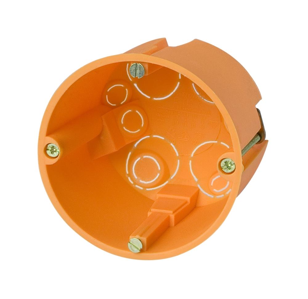 100 Stk Hohlwanddose d68xt61mm, orange, PP GTDH117---