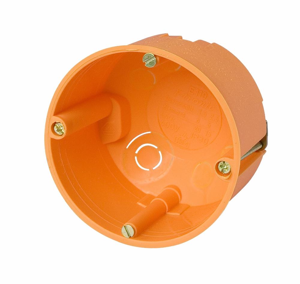 100 Stk Hohlwandabzweigdose d70xt50mm, orange, Deckel-weiß, PP GTDH119---
