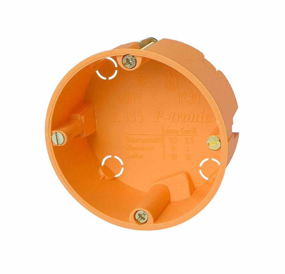 100 Stk Hohlwanddose d68xt35mm, orange, PP GTDH135---