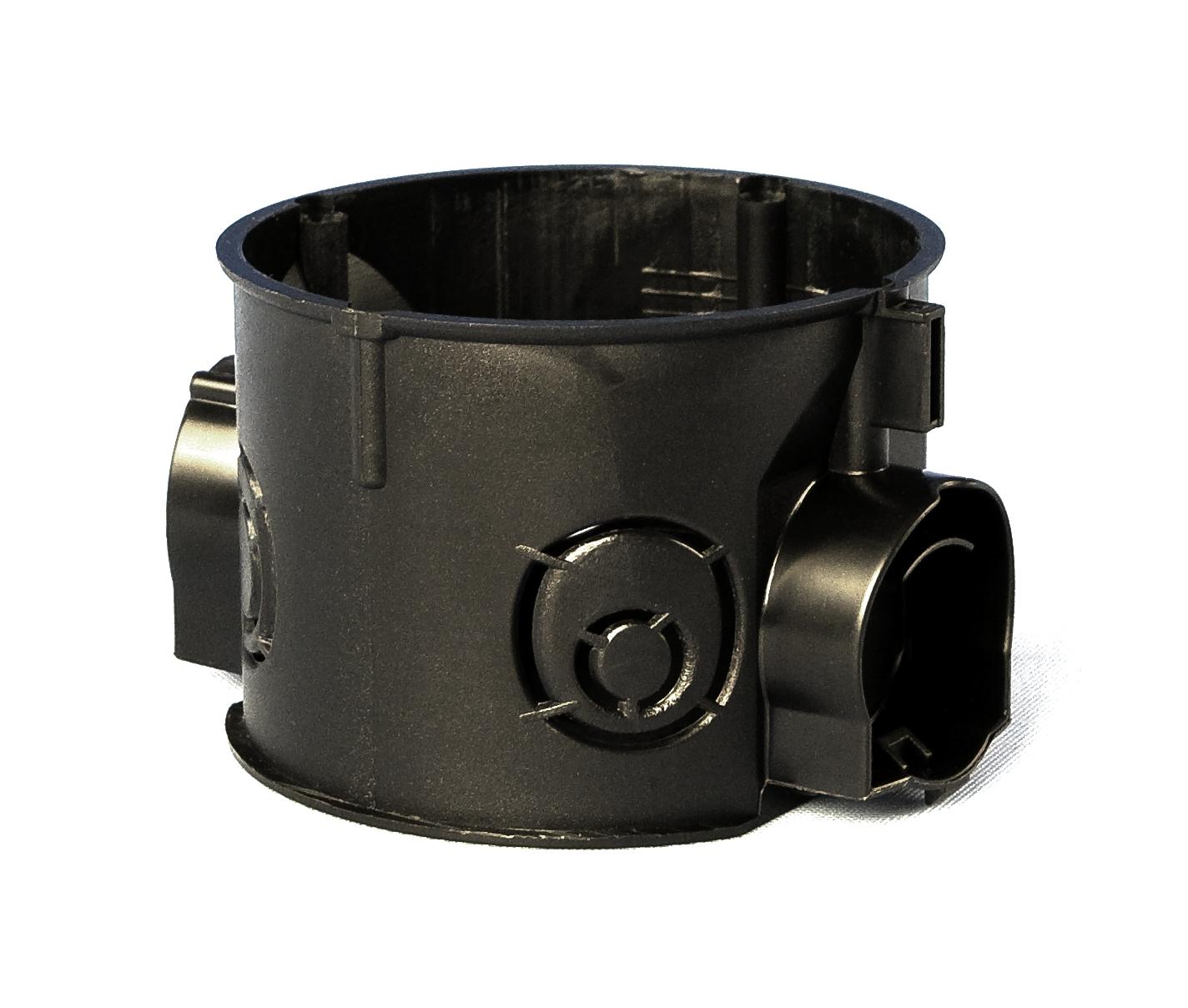100 Stk UP-Kombi Schalterdose d60xt41mm, Einführung M25, schwarz, PS GTDU10625-