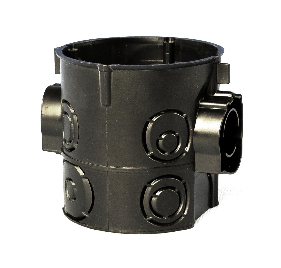 100 Stk UP-Kombi Schalterdose d60xt65mm, Einführung M25, schwarz, PS GTDU10725-