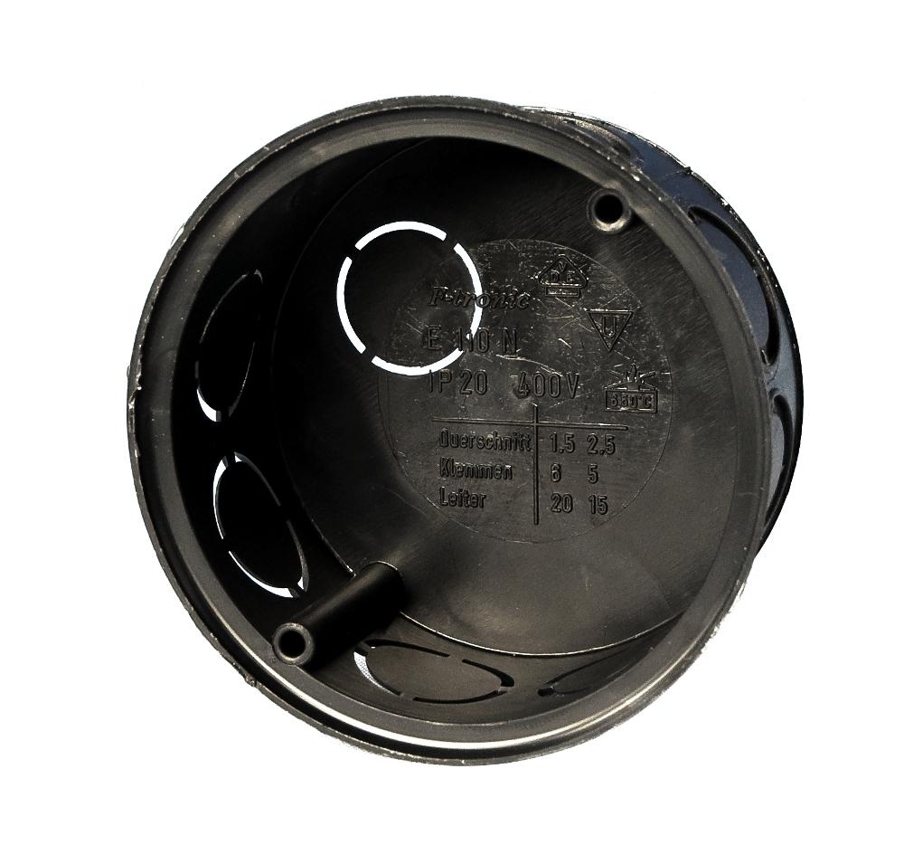 100 Stk UP-Abzweigdose d70x35mm, Einführung M20, schwarz,ohne Deckel GTDU110---