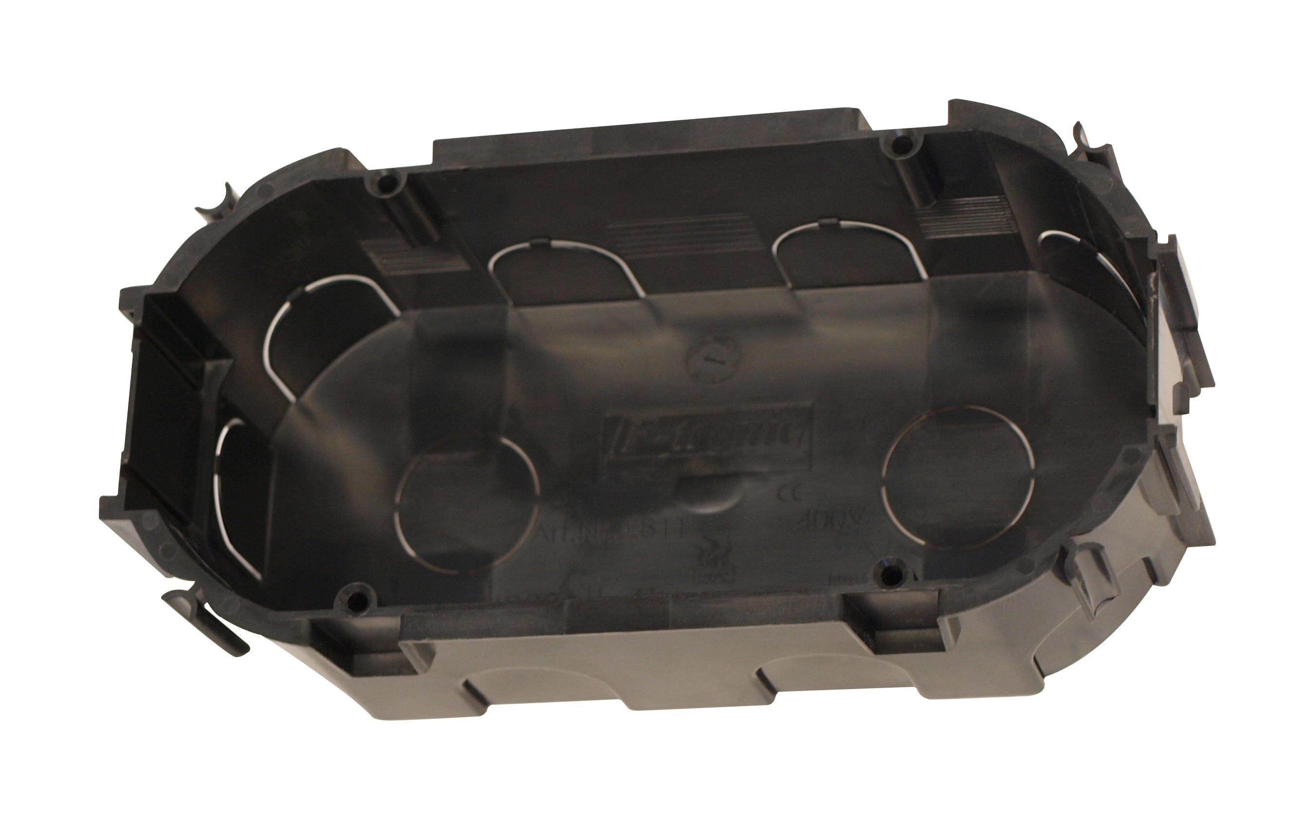 100 Stk UP-Doppelschalterdose 2xd67xt45mm, schwarz,PS GTDU811---