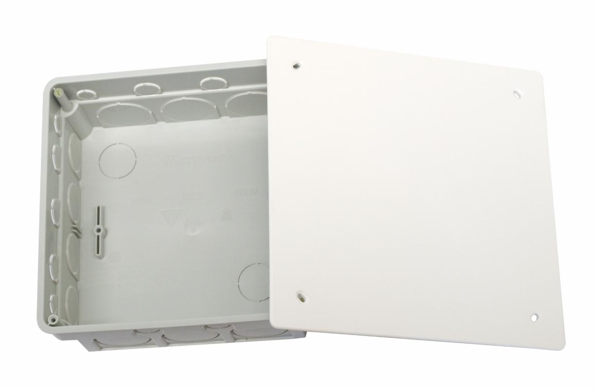 100 Stk UP-Abzweigkasten 165x165xt50mm, ausbrechbar, Deckel weiß GTDW142---