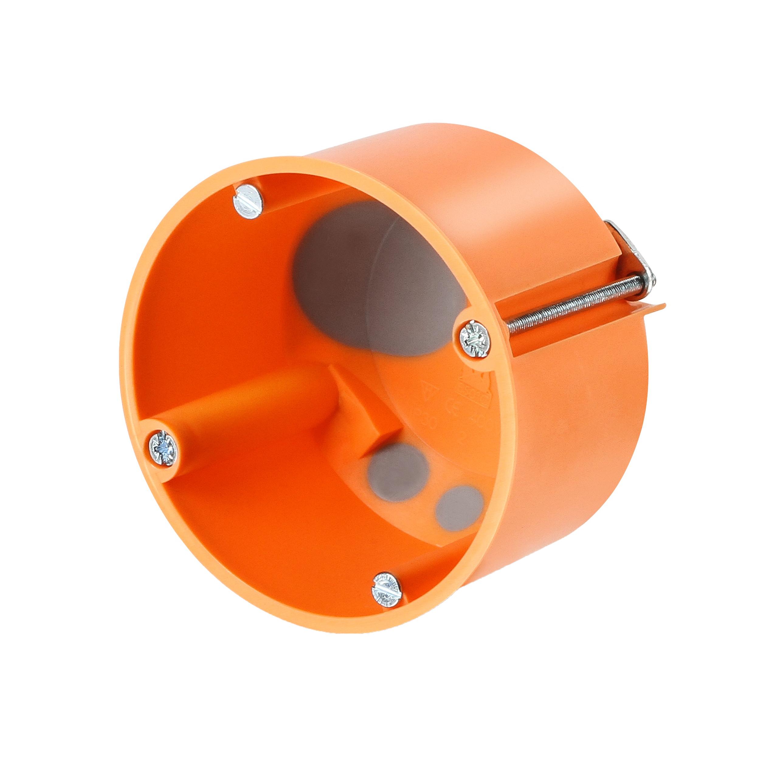 100 Stk Hohlwandschalterdose winddicht d68/t47mm, orange, M20, PP GTDW2000--