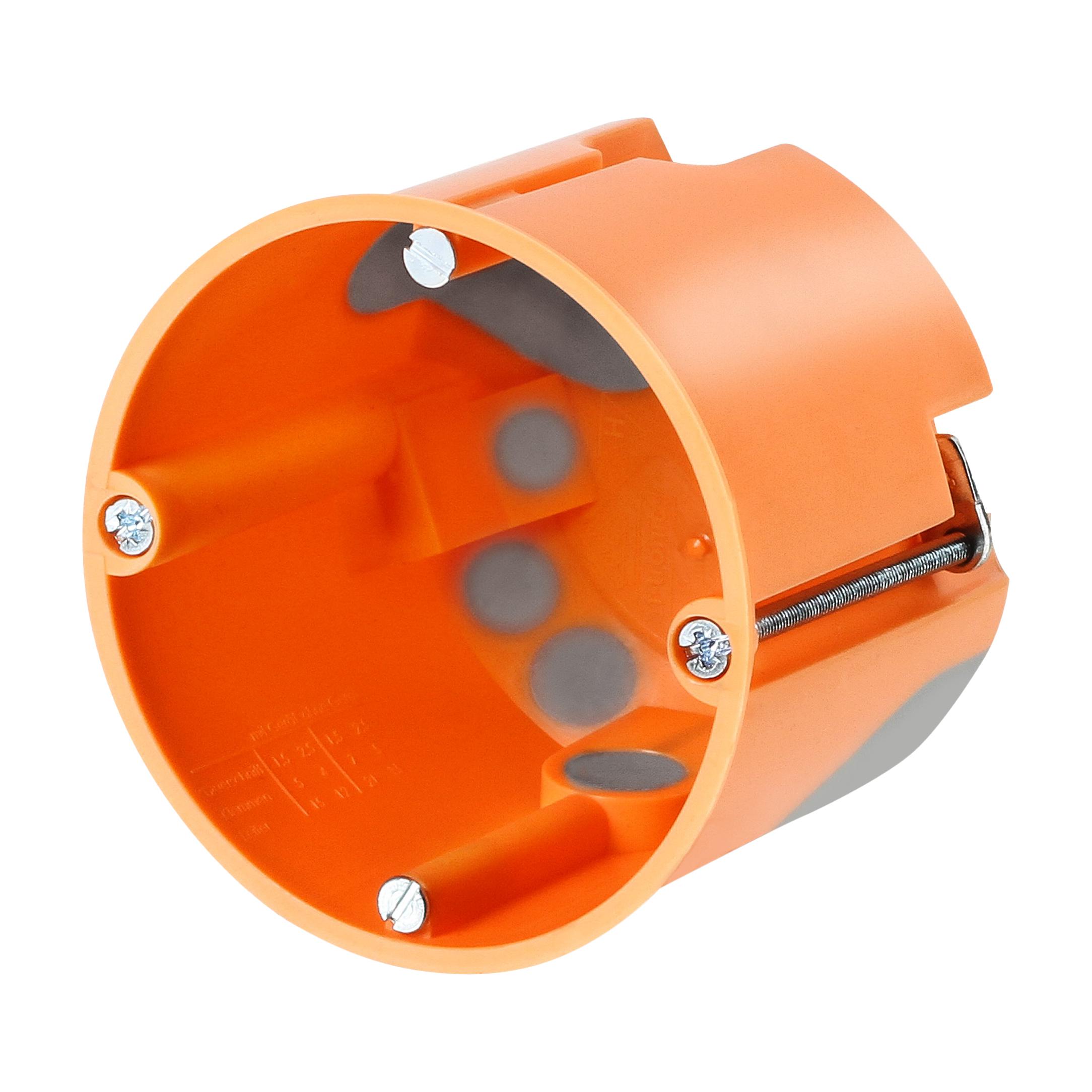 100 Stk Hohlwandabzweigdose winddicht d68/t61mm, orange, M25 ,PP GTDW3500--