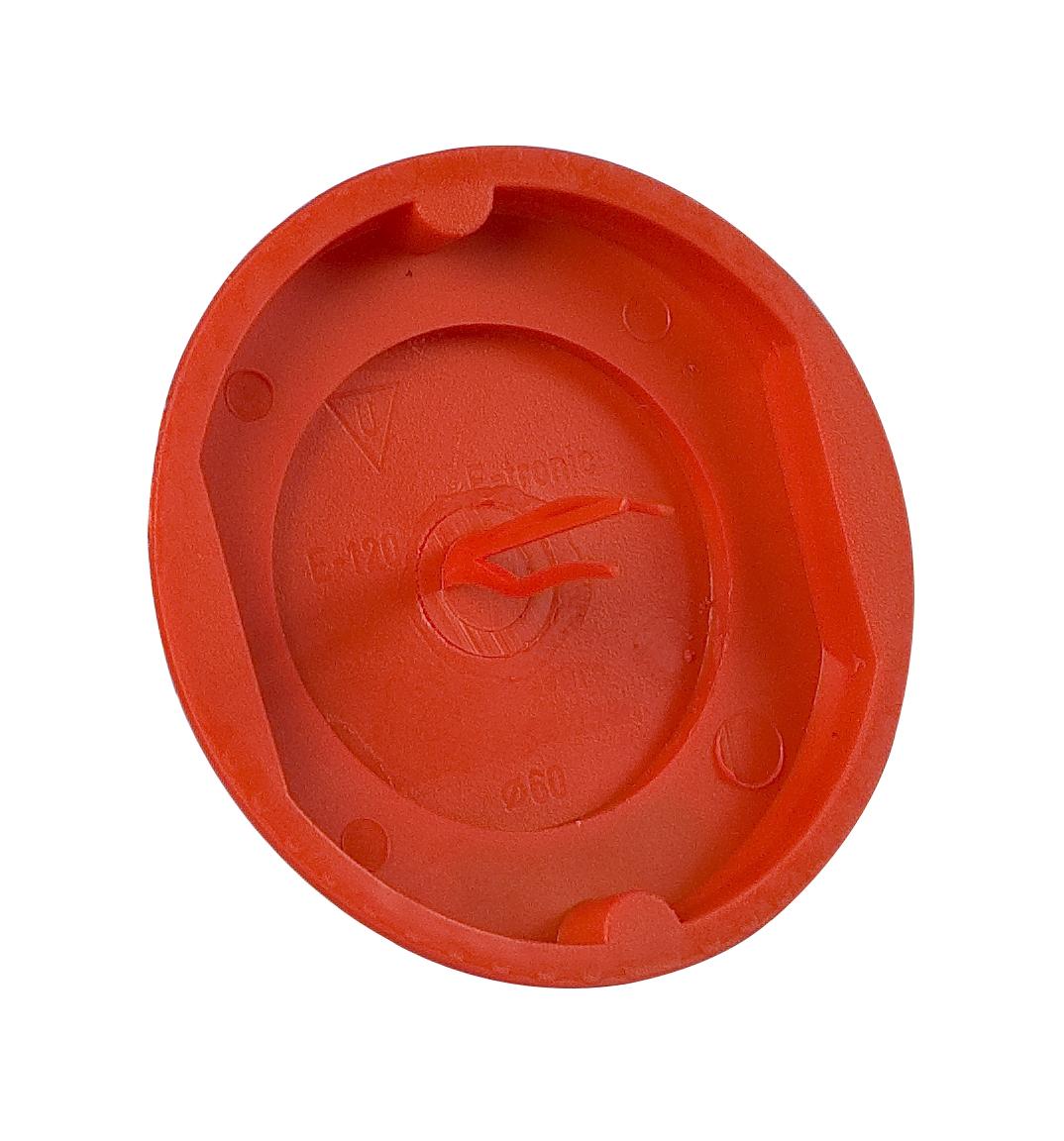 100 Stk Signal-Schalter-Dosendeckel d60mm, rot GTDZE120--
