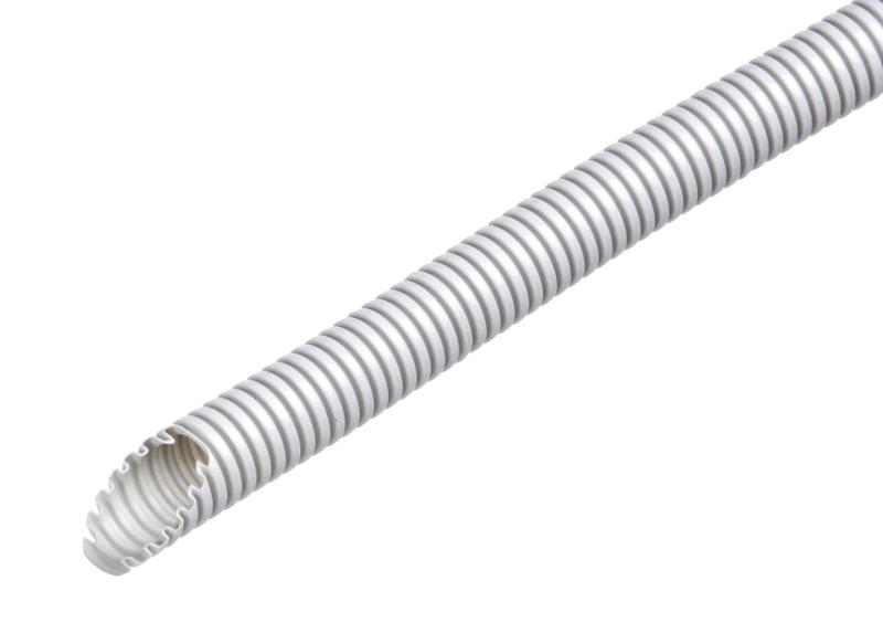100 m Flex-leicht Schlauch M25, 320N, Ring 50m,hellgr. halogenfrei GTPHXL25--