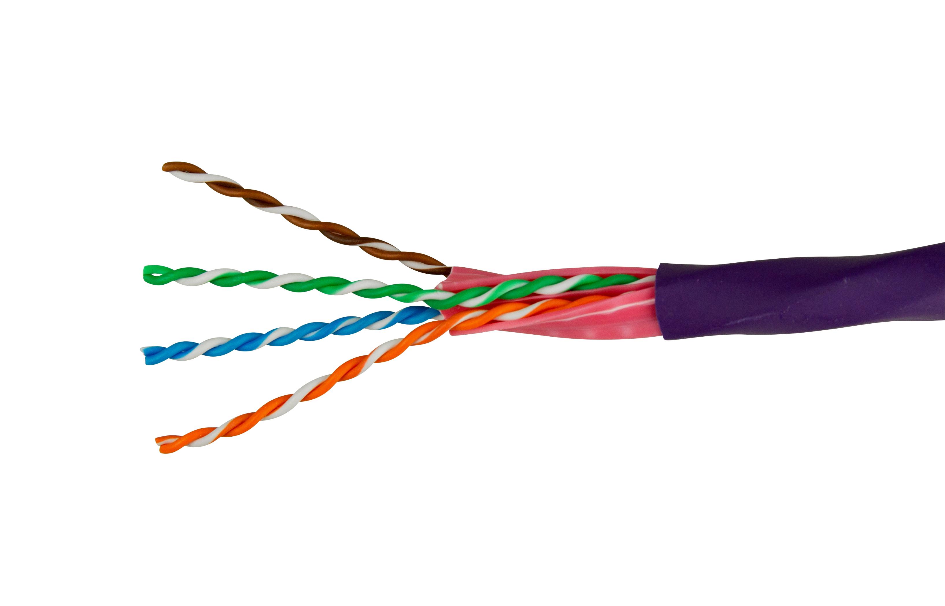 100 m IBDN LINE U/UTP Kabel Cat.6A,4x2xAWG23/1,625MHz,LS0H,violett HBIK818095